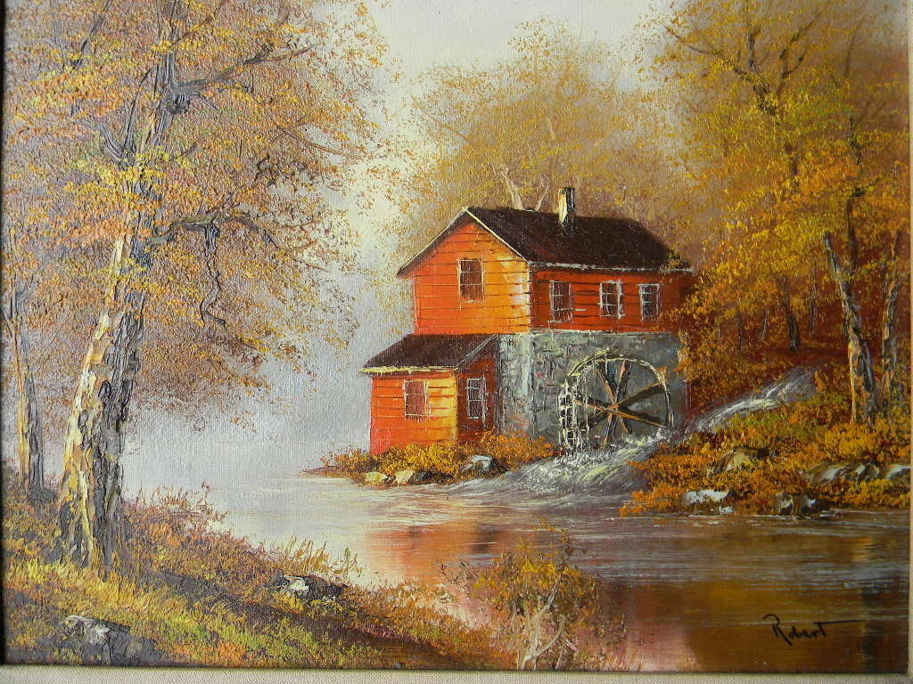 Robert oil painting on canvas landscape red tag sale for Canvas art on sale