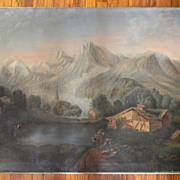 "34"" x 45"" Oil Painting on Canvas Landscape"