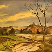 Willard Sauter . listed artist . Landscape Oil Painting