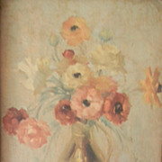 Oil Painting Still Life Floral . signed
