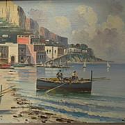 Ciappa .  Signed .  Italian City by the Sea