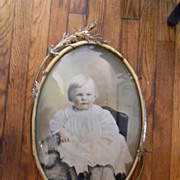 Most Beautiful Baby on the Internet Today . In 20 x 14 Bubble Glass Ornate Frame.