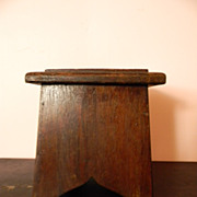 Antique Small Mahogany Wood Library Step Stool