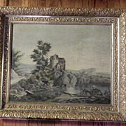 Antique Oil Painting Landscape . Great Details . Beautiful Frame