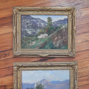 Pair of Landscape Paintings - 40's.
