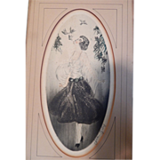 Rare Antique Etching signed Jean Gilles