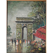 Signed . Oil Painting . Impressionism . Paris Scene . FREE SHIPPING!