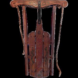 Vintage Coaster King Sled / Sleigh