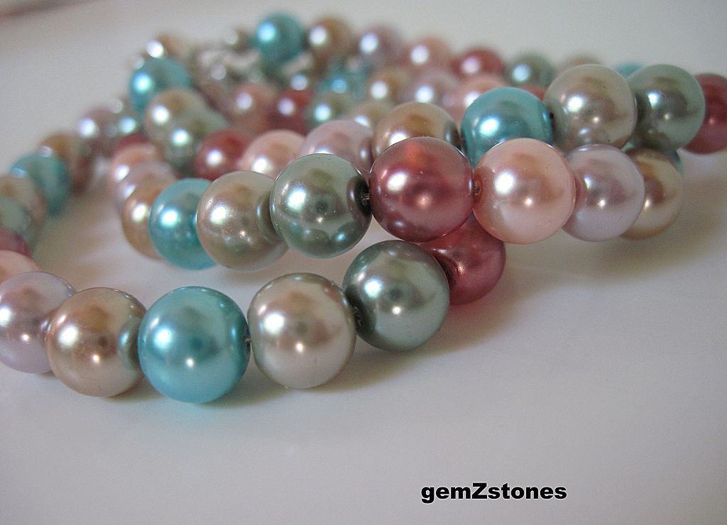 Fun And Feminine Triple Strand Multi Colored Bracelet