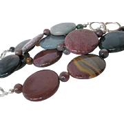 Multi Colored Fancy Jasper Single Strand Necklace
