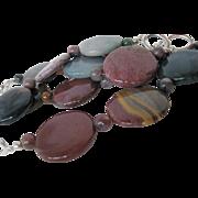 Multi Colored Fancy Jasper Single Strand Necklace