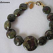 Unique Single Strand Dragon Blood Jasper Bracelet