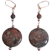Unique And Beautiful Kashgar Garnet Dangle Earrings