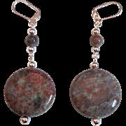 Unique And Beautiful Kashgar Garnet Dangle Earrings