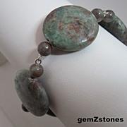 Unique And Beautiful Kashgar Garnet Single Strand Bracelet