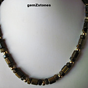 Beautiful Brown And Gold Tiger Eye Single Strand Necklace
