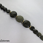 Elegant Golden sheen Obsidian Single Strand Bracelet