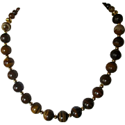 Natural Jupiter Jasper Single Strand Necklace