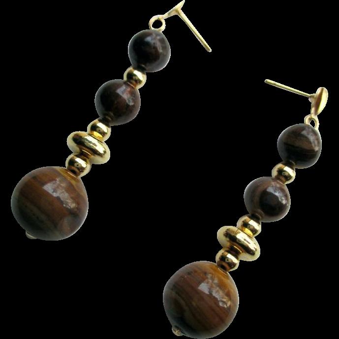 Natural Jupiter Jasper Dangle Earrings