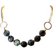 Beautiful Grade A Labradorite Single Single Strand Necklace