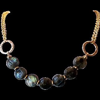 Beautiful Grade A Labradorite Single Single Strand Necklace