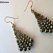 Pretty Pyrite (Fools Gold) Dangle Earrings