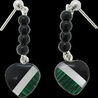 Custom order for Lenore Sterling Heart Earrings