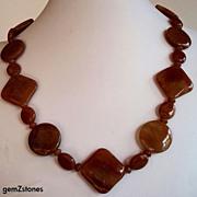 Red Aventurine Single Strand Necklace