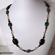 Elegant Gemstone Grade A Nephrite Jade Necklace