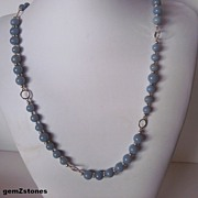 Pretty Natural Glacier Blue Angelite Necklace