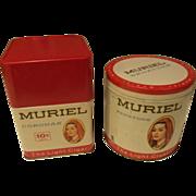 Vintage Muriel Corona and Senators Cigar Tins