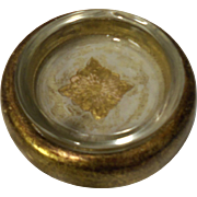 Small Italian Florentine Gold Gilt Hand-Painted Ash Tray
