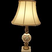 Shabby Vintage Designer Porcelain Floral Table Lamp