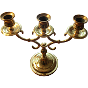 Baldwin Brass Three Candle Holder Candelabra