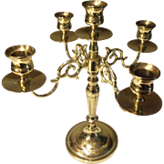 Baldwin 5 cup Candelabra Forged Brass USA