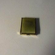 Vintage Gold Plated Matchbook Holder with Enameled Center