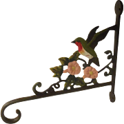 Vintage Cast Wrought Iron Hummingbird Plant Hanger
