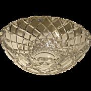 Vintage Rogaska Churchill Cut Crystal Diamond Cut Bowl/Fruit/Ambrosia