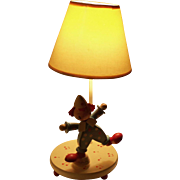 Vintage Clown Child's Lamp with Music Box Do-Re-Mi