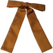 Vintage Western String 1950's Light Brown Rockabilly Swing String Bowtie