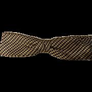 Vintage 1950's Shur-On Clipon Bowtie Black/Cream Houndstooth Design