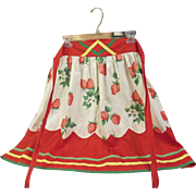 Savvy Vintage Handsewn Strawberry Design Apron