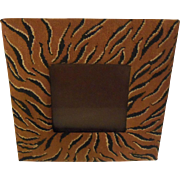 Tiger Striped Petit Point Picture Frame