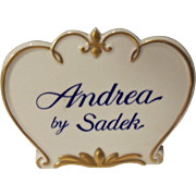 Andrea by Sadek Counter Advertising Sign