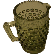 Vintage Child's Green Hobnail Pitcher Creamer