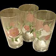 Franciscan Desert Rose Iced Tea Glass Tumblers