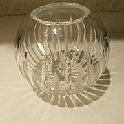 Vintage Leaded Crystal Rose Bowl Europe