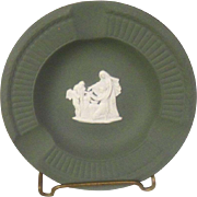 Vintage Wedgwood Sage Green  3 Slots Ash Tray  Original Box and Papers