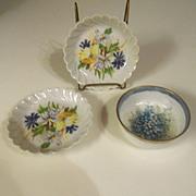 Vintage Haviland Limoges France Floral Round Dish Set (3)