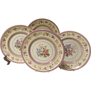 Vintage Charles Ahrenfeldt Limoges Dinner Plate Set of Four FRANCE